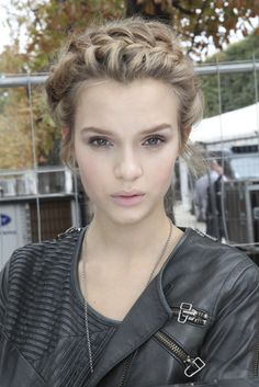 Josephine Skriver after Valentino Spring 2012 Ready-to-Wear