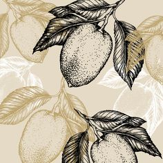 lemon on the branch illustration and pattern by Zoe Sizemore at Case In Point Design Studio