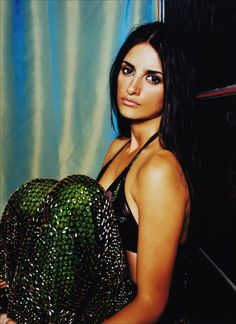 Penelope Cruz #emerald green