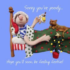 Love this Get Well at Christmas card by Erica Sturla