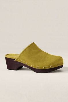 Dark Harvest Yellow Classic Low Clogs from Lands' End CANVAS collection