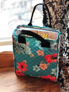 Vinyl Lined Cosmetic Bag Made With Pioneer Woman Quilted