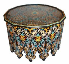 Moroccan Hand Painted Coffee Table – Hip and Humble Home