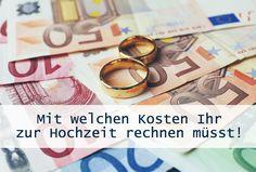 Budgetplaner: Mit welchen Kosten Ihr zur Hochzeit rechnen müsst!