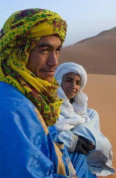 Berbers in Sahara Desert of Morocco