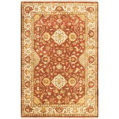 ecarpetgallery Finest Ushak Orange Wool Rug (6' x 9')