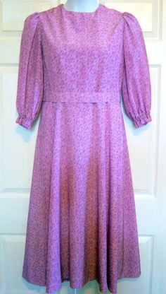 "Amish Mennonite Handmade Modest Spring Cape Dress 38"" Bust/ 34"" Waist"