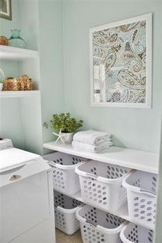 Laundry room fix- basket for each person