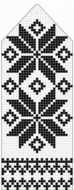 northern star / snowflake motif ~~ knitted mitten pattern ~~ also filet crochet cross stitch Knitting Charts, Knitting Stitches, Knitting Patterns, Loom Knitting, Free Knitting, Knitting Machine, Vintage Knitting, Knitting Designs, Crochet Stitches