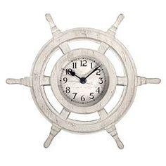 nautical shipu0027s wheel wall clock