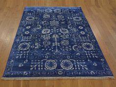 "4'2""x6'2"" Hand-Knotted Wool And Silk Tone on Tone Tabriz Oriental Rug #rug #rugs #home #decor #carpet #interior #decoration #sale #store #oriental #wool #modern #runner #cotton #floor #handmade #livingroom"