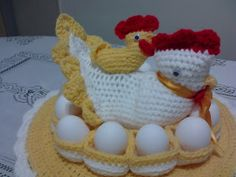 ****susana gladys y sus crochets****: GALLINA PORTA HUEVO!!!!!!!!!!!!!!!!!!!!!!!!!!!!!!!... Crochet Projects, Funny Animals, Easter, Ova, Patterns, Collection, Diy And Crafts, Hens, Crochet Kitchen