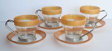 Vtg Set of 4 Cups & Saucers Fidenza Oslo Espresso Tea Coffee ODD Rare Mystery