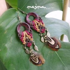Queen of the forest macrame earrings tribal by MagmaArtwork, $26.25