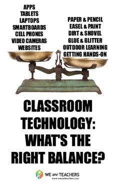How Much Is Too Much Classroom Technology? #weareteachers