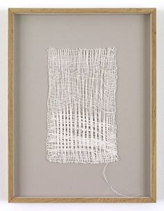 Sheila Hicks, Loosely Speaking, Linen, 10 x 6 inches. Weaving Textiles, Tapestry Weaving, Textile Fiber Art, Textile Artists, Sheila Hicks, Art Du Fil, Creative Textiles, Weaving Projects, Art Graphique