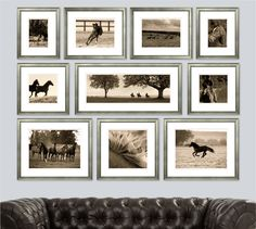 Ben Wood Templeton Stud Photography Collection - The Ben Wood Templeton Stud Photography Collection is the perfect way to have your love of horses displayed in your home. Photo Wall Collage, Picture Wall, Photo Frame Decoration, Unique Picture Frames, Picture Arrangements, Ikea Wall, Equestrian Decor, Family Wall, Contemporary Artwork