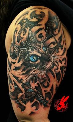 Cat tattoo... Actually really cool
