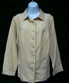Studio Works NEW Yellow Ultrasuede Long Sleeve Button Down Blouse Plus Sz.1X