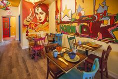 A first look at Chaat and Chai, South Philly's new Indian cafe Small House Interior Design, Restaurant Interior Design, Cafe Interior, Restaurant Interiors, Bistro Interior, Restaurant Ideas, Indian Cafe, Bollywood Theme, Cafe Concept