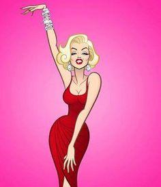 marilyn monroe by glen hanson Estilo Marilyn Monroe, Marilyn Monroe Kunst, Marilyn Monroe Drawing, Marilyn Monroe Artwork, Marylin Monroe, Pop Art Marilyn, Jessica Rabbit, Marilyn Monroe Photoshoot, Pin Up Girls