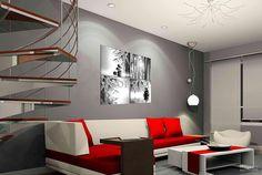 Картина удачно вписывается о общий ансамбль комнаты.