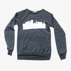 Hartford Skyline Pullover $68.00 at hartfordprints.com #CT #handmade #holiday #gifts #Connecticut #smallstatebigheart