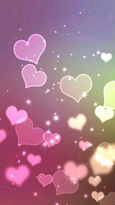 Fondo de pantalla con corazones para ser feliz