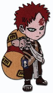 embroidered Gaara iron on  (actually any of my fave characters would be awsome)