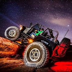 Gnarly Jeep and night stars - love the lighting!