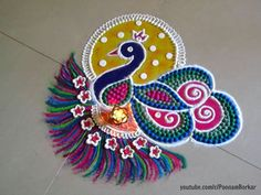 latest Simple Rangoli Designs Images Photos for Diwali 2018 ~ Happy Diwali Images Wishes 2018 Rangoli Designs Latest, Simple Rangoli Designs Images, Latest Rangoli, Rangoli Designs Diwali, Rangoli Designs With Dots, Beautiful Rangoli Designs, Kolam Designs, Easy Rangoli For Diwali, Diwali Diy