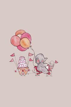 Elephant balloon cartoon