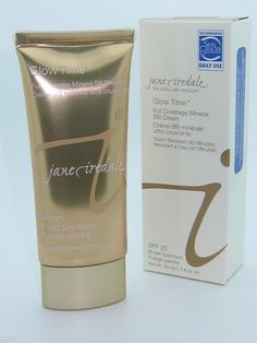 Jane Iredale Glow Time Full Coverage Mineral BB Cream - WANT!  MAJOR PRODUCT ALERT...love this and worth every penny for flawless look! THANK YOU ALLYSON AND JULIE!