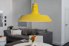 Visiaca lampa LUKA 45 cm - žltá