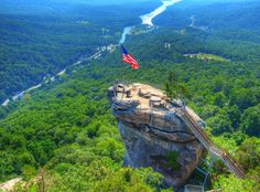 Chimney Rock State Park. Did you know that in 2016, the North Carolina state parks system celebrated its 100th anniversary?  In fact, it has grown to over 225, 000 acres and hosts more than 15.6 million visitors each year.