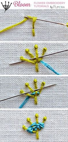 pistil stitch flower embroidery tutorial