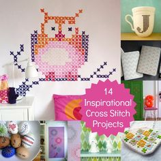 14 Inspirational Cross Stitch Projects from crafty-things-i-should-do-someday Modern Cross Stitch, Cross Stitch Designs, Cross Stitch Patterns, Cross Stitching, Cross Stitch Embroidery, Yarn Crafts, Diy Crafts, Crochet Cross, Crafty Craft