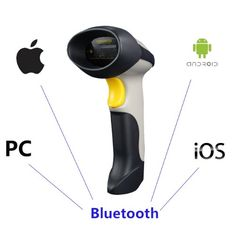 Buy it Now POTOLON 3 Mil Resolution 2 In 1 HID/SPP Dual Mode USB Wired + Bluetooth Wireless Shock-Proof Laser Barcode Scanner Decoder With 1500mAh Battery Perfect For Android/IOS/Windows XP/7/8/CE System Like Iphone Galaxy Ipad