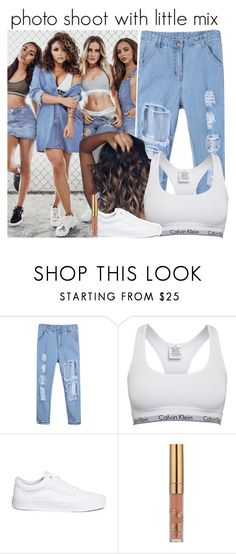 """""""photo shoot with little mix"""" by onlymyniallhoran ❤ liked on Polyvore featuring Calvin Klein and Vans"""