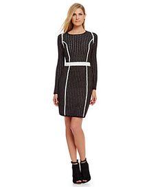 Calvin Klein Seamed Sweater Dress