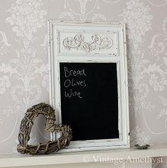shabby chic | Vintage Amethyst: *Vintage Style Shabby Chic Chalkboard*