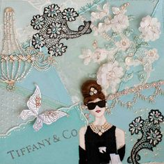 This is the most divine needlecraft. Everything that Plays with Needles does is awe inspiring. Click this pin to see the process and all the intricate details of this Breakfast at Tiffany's piece. Tiffany Blue Box, Spring 2015 Fashion, Breakfast At Tiffanys, New York Post, Pretty Pastel, Embroidery Techniques, Fabric Art, Soft Colors, Fiber Art