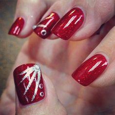 Fun glitter nail art OPI