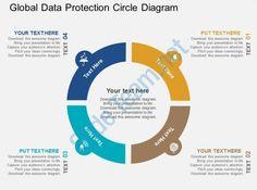 global data protection circle diagram flat powerpoint design Slide01
