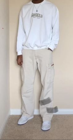 Stylish Mens Outfits, Casual Outfits, Men Casual, Fashion Outfits, White Outfit For Men, White Outfits, Aesthetic Fashion, Aesthetic Clothes, Hip Hop Fashion