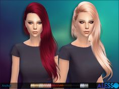 Emma's Simposium: Free Sims 4 Hair Pack #026 by Alesso at TSR
