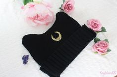 Hey! Deer Lili: DIY Knit Hat inspired by sailor moon / Bonnet Sailor Moon (Luna)