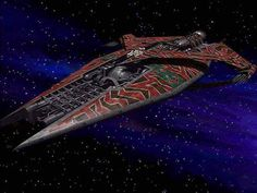 Babylon 5 - Narn Regime - Heavy Cruiser. The mainstay of the Narn navy. This ship was the answer to the Narn's need for a large capital ship that could stand up to a Centauri battlecruiser. While not quite as advanced as the Centauri ship, it more than makes up for it with sheer endurance.