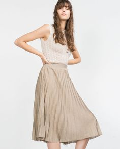 Image 3 of A-LINE PLEATED SKIRT from Zara