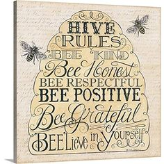 Another great find on 'Hive Rules: Bee Kind' Embossed Paper Cocktail Napkin - Set of 20 Bee Crafts, Bee Art, Bee Theme, Busy Bee, Save The Bees, Bee Happy, Bees Knees, Relief Society, Mellow Yellow